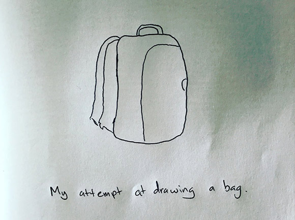 my attempt at throwing a bag