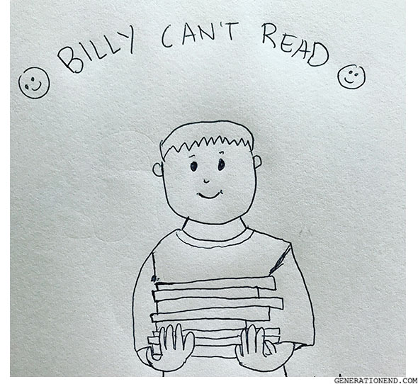 billy cant read