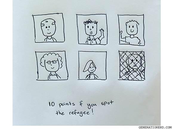 spot the refugee