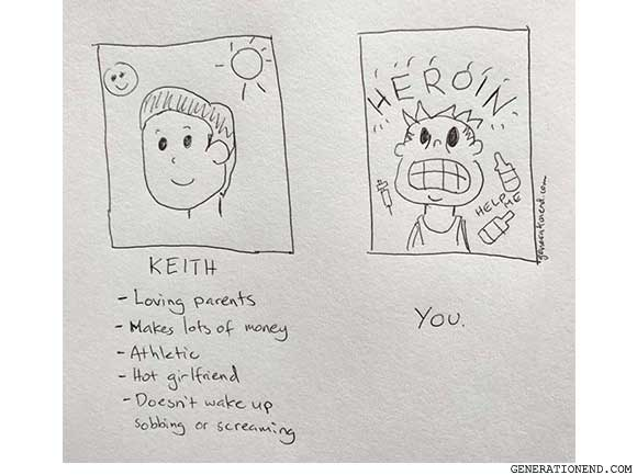 keith vs heroin addict you