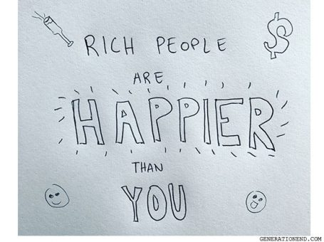 rich people are happier than you