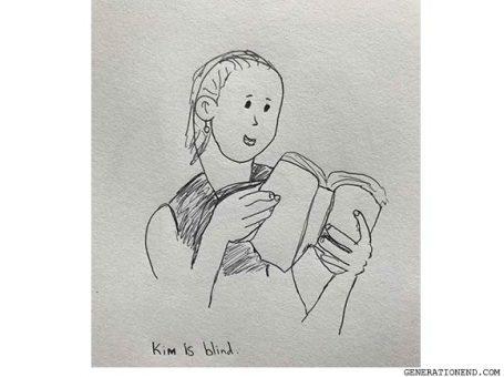 kim blind reading