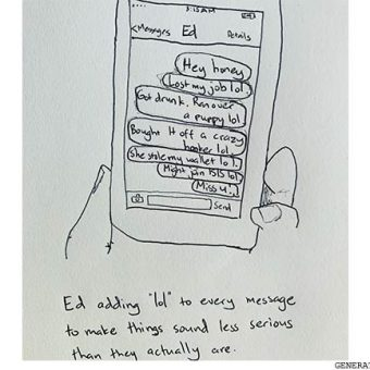 drawing of ed-adding-lol-to-every-message-to-make-things-sound-less-serious
