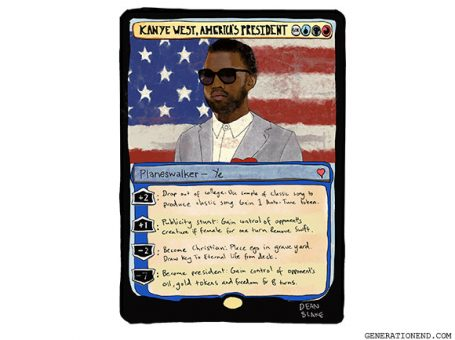 kanye west for president magic the gathering card
